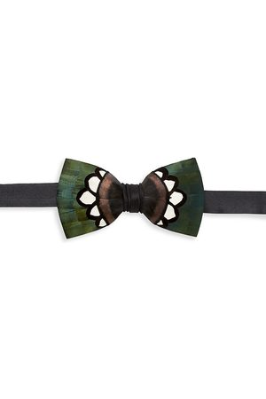 Brackish Men's Hanna Grosgrain, Pheasant & Turkey Feather Bow Tie