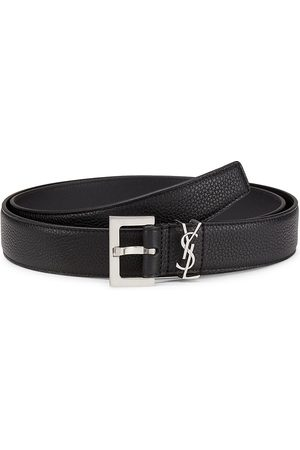 Saint Laurent Men's Grain Leather Belt - - Size 110 (44)