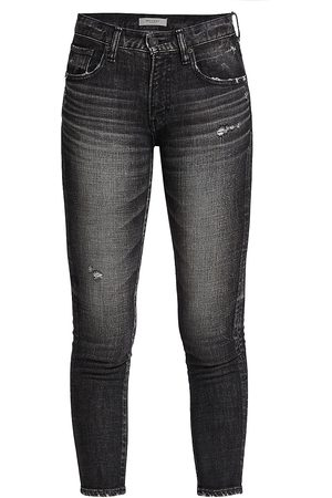 Moussy Women's Prichard Mid-Rise Skinny Jeans - - Size 30 (8)