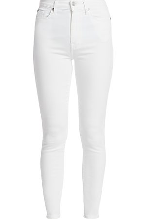 7 for all Mankind Women's High-Rise Luxe Ankle Skinny Jeans - - Size 34 (16)