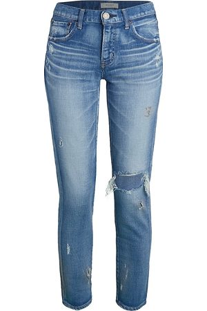 Moussy Women's Lenwood Mid-Rise Distressed Jeans - - Size 30 (8)