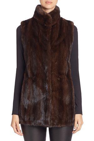 The Fur Salon Women's Mink Fur Vest - - Size XS
