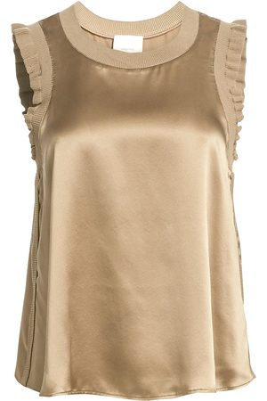 Cinq A Sept Women's Tous Les Jours Lenore Silk Tank - - Size XL