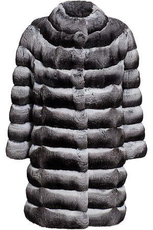 The Fur Salon Women's Chinchilla Coat - - Size Large