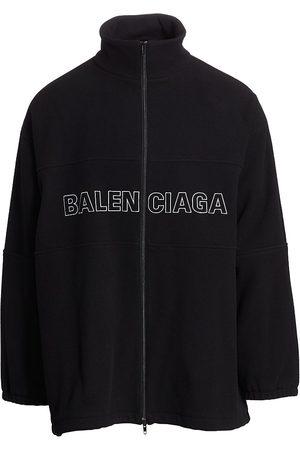 Balenciaga Men's Zip-Up Logo Virgin Wool-Blend Jacket - - Size 50 (40)
