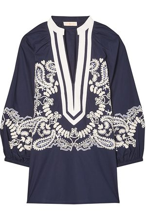 Tory Burch Women's Paisley-Embroidered Tunic - - Size XS