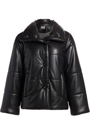 Nanushka Women's Hide Vegan Leather Puffer Jacket - - Size Medium