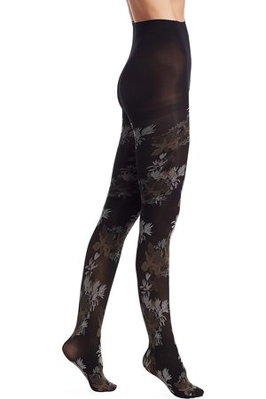 Natori Women's Brushed Deco Opaque Tights - - Size Small-Medium