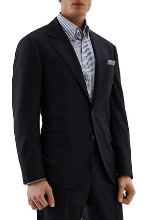 Brunello Cucinelli Men's Houndstooth Wool Suit Jacket - - Size 58 (48)