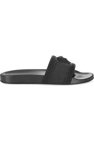 VERSACE Men's Medusa Cardinal Pool Slides - - Size 47 (14) Sandals