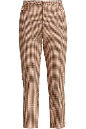 L'Agence Women's Ludivine Plaid Cropped Trousers - - Size 12