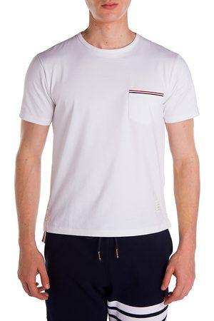 Thom Browne Men's Cotton Pocket Tee - - Size 3 (Large)