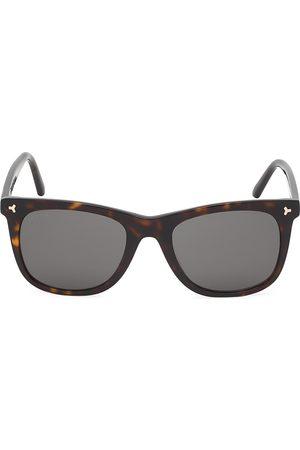 Bally Men's 55MM Tortoiseshell Square Plastic Sunglasses