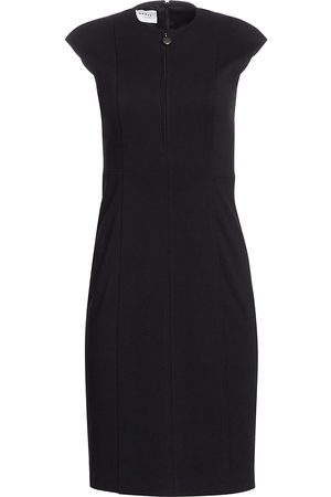 AKRIS Women's Essentials Jersey Cap-Sleeve Sheath - - Size 16