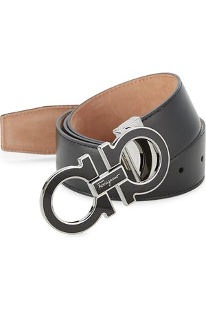 Salvatore Ferragamo Men's Adjustable Gancini Buckle Belt - - Size 44
