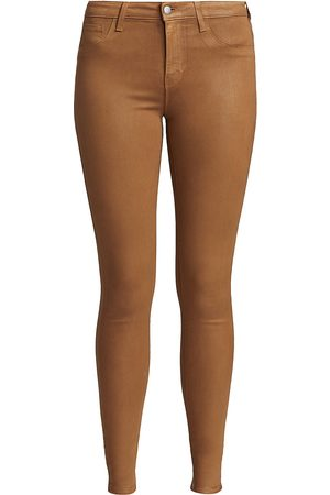 L'Agence Women's Marguerite High-Rise Skinny Coated Jeans - - Size 30 (8-10)