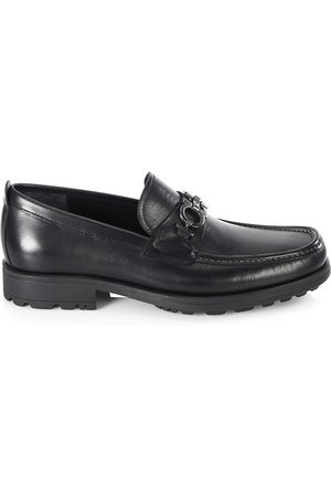 Salvatore Ferragamo Men's David Gancini Bit Leather Loafers - - Size 6 EE