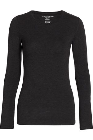 Majestic Women's Soft Touch Long-Sleeve Top - - Size 5 (XL)