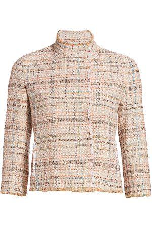 AKRIS Women's Cropped Tweed Jacket - - Size 14