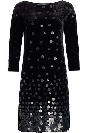 Joan Vass Women's Velvet Sequin Dress - - Size 3 (16-18 US)