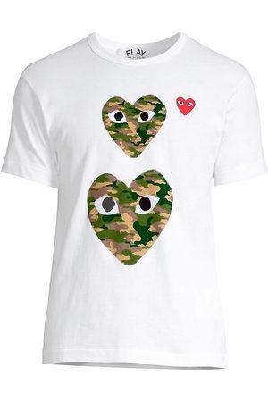 Comme des Garçons Men's Double Camo Logo T-Shirt - - Size Large