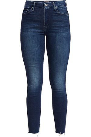 Mother Women's The Looker High-Rise Ankle Skinny Fray Hem Jeans - - Size 32 (12)