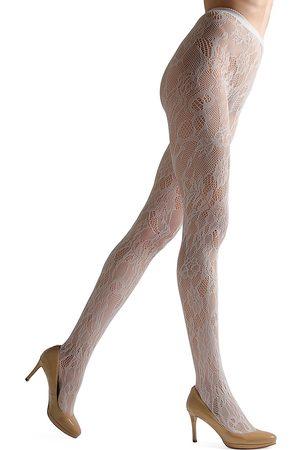 Natori Women's Cut-Out Lace Net Tights - - Size XL