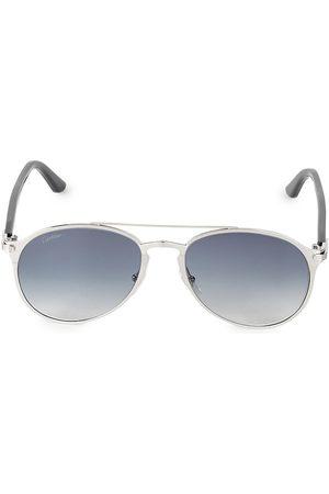 Cartier Men's 56MM Round Sunglasses