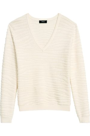 THEORY Women's Zebra Tonal Plush Pullover - - Size Medium
