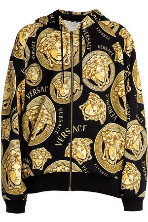 VERSACE Men's Medusa Zip-Front Cotton Hoodie - - Size Small