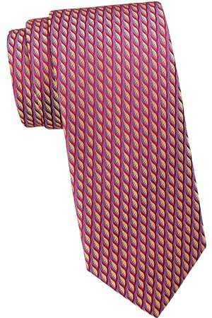 Charvet Men's Neat Contrast Color Brush Silk Tie