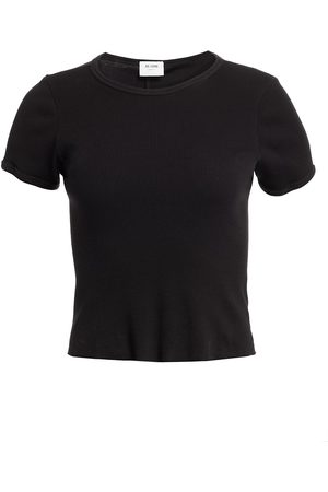 RE/DONE Women's 90s Ribbed Cap-Sleeve Tee - - Size Large