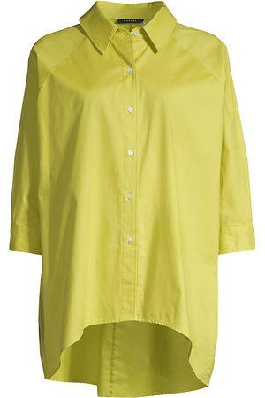 Natori Women's Cotton Poplin Top - - Size Large