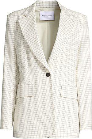 Michelle Waugh Women's The Dixie Check Single-Button Blazer - - Size 0