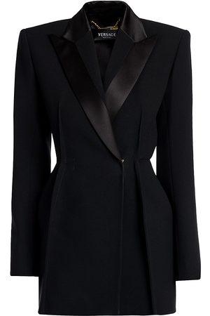VERSACE Women's Satin Lapel Blazer - - Size 44 (8)
