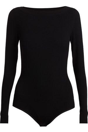 Alaïa Women's Boatneck Long-Sleeve Knit Bodysuit - - Size 36 (2-4)
