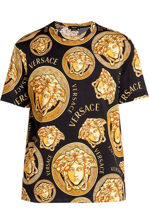 VERSACE Men's Stamp Printed Crewneck T-Shirt - - Size Small