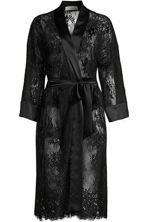 FLEUR DU MAL Women's Lace Robe - - Size Medium-Large