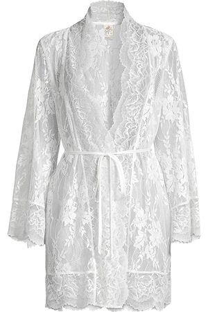 Jonquil Women's Collette Lace Wrap Robe - - Size Medium