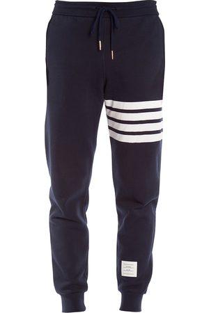 Thom Browne Men Tracksuits - Men's Stripe Cotton Joggers - Navy - Size Medium