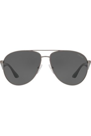 Prada Men Aviators - Men's 60MM Browline Aviator Sunglasses - Gunmetal