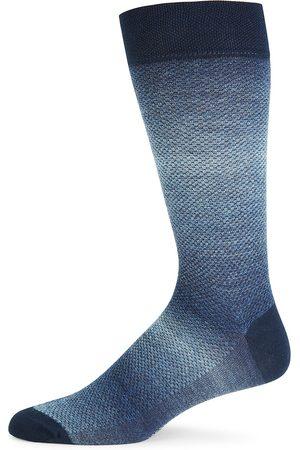 Marcoliani Men's Shaded Piqué Knit Socks