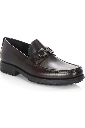 Salvatore Ferragamo Men's David Gancini Bit Leather Loafers - - Size 6.5 EE