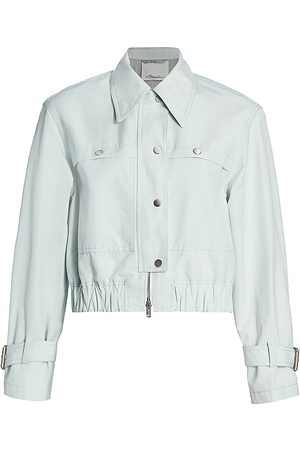 3.1 Phillip Lim Women's Cropped Bomber - - Size 12