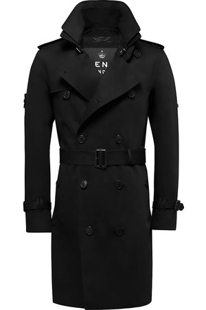 Trench London Men's The King Classic Trench Coat - - Size Medium
