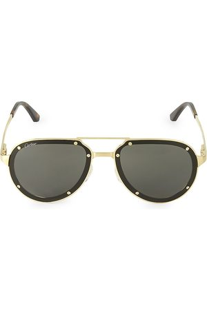 Cartier Men's 60MM Aviator Titanium Sunglasses