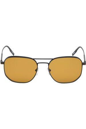 Z Zegna Men's 56MM Metal Round Aviator Sunglasses