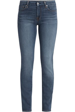 7 for all Mankind Women's Mid-Rise Kimmie Straight Jeans - - Size 33 (14)