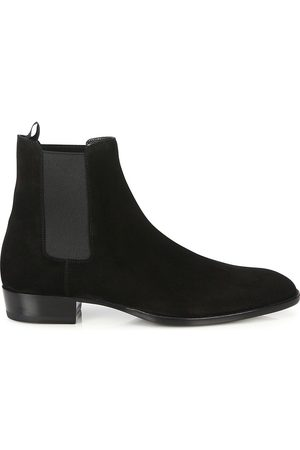 Saint Laurent Men's Wyatt Suede Chelsea Boots - - Size 42 (9)