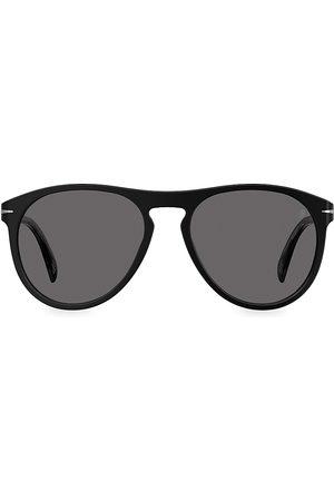 David beckham Men's 55MM Aviator Sunglasses